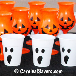 decorate your own cups for a diy halloween game - Halloween Ping Pong Balls