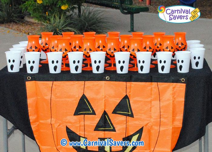 ping pong pumpkin halloween game idea 2jpg - Halloween Ping Pong Balls