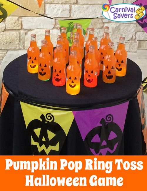 Diy Halloween Game Pumpkin Pop Ring Toss