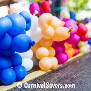 Dog Shaped Carnival Balloons