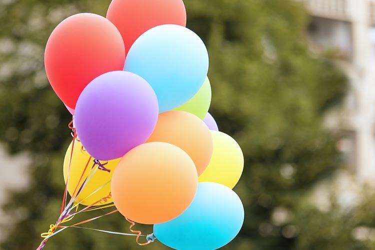 Helium Balloons outside