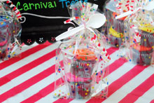 carnival cakewalk table
