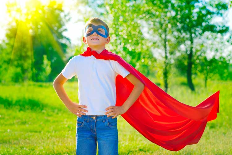 Boy with Cape - Superhero