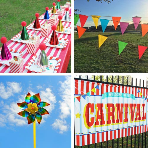 carnival themed party ideas free printables supplies