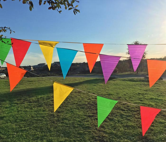 Colorful Flag Pennant Banners for EASY Outdoor Decorations