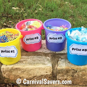 Add Coordinating Numbers to Your Prize Buckets.