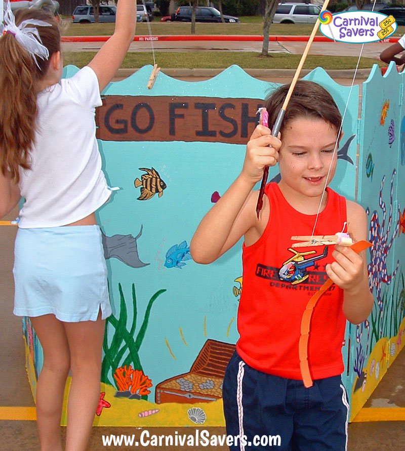 Carnival game and booth ideas fishing booth for Easy fishing games