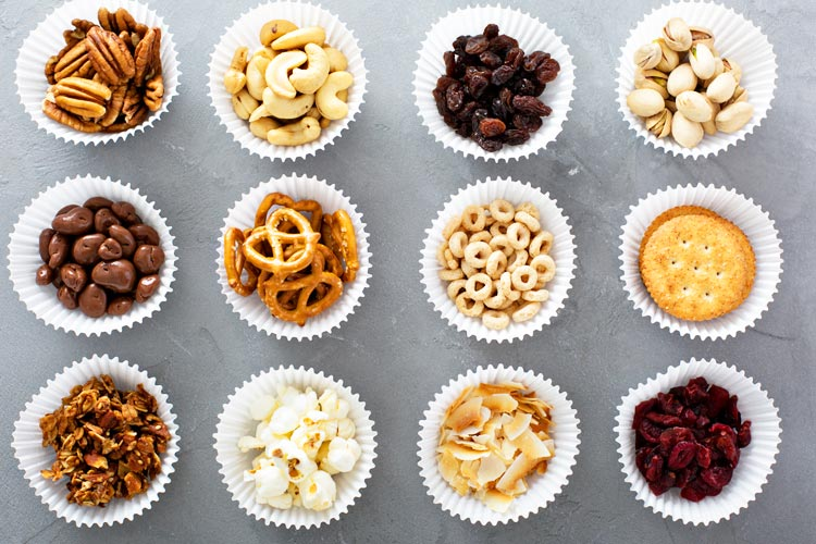 Healthy Snack Options in Cupcake Liners