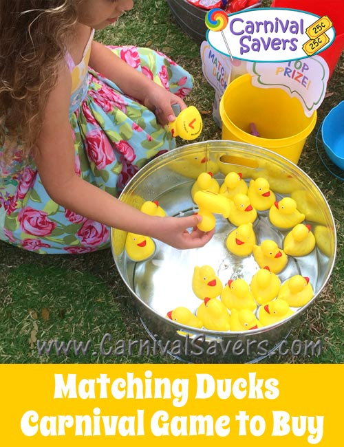 Matching Ducks Bday Party Carnival Game