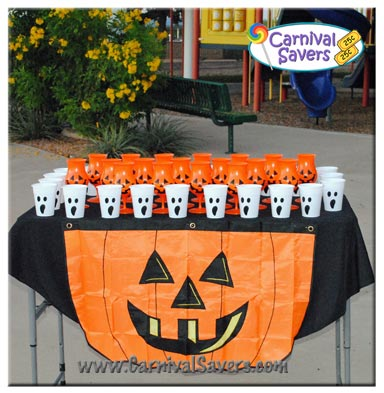 Halloween Carnival Games For Kids.Ping Pong Pumpkin Easy Halloween Game For Kids