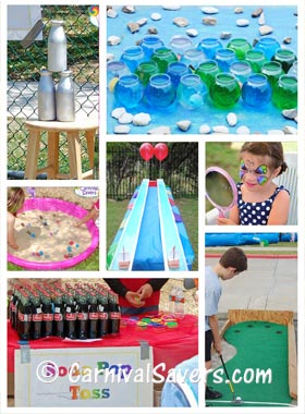 FREE Carnival Game Ideas - Carnival Activity Booth Ideas Too!