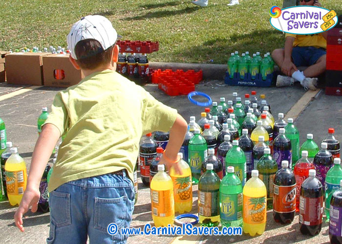 2 Liter Ring Toss on Probability Carnival Games Ideas
